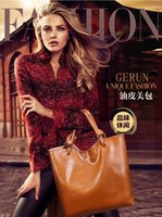 Wholesale Genuine leather spring summer new European and American fashion oil wax leather bag shoulder bag0705