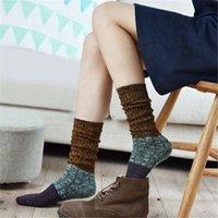 assorted leg warmer - New Winter Women Boots Socks Retro National Style Leg Warmers Fashion Assorted Colors Girls Stockings Warm Cotton Socks