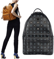 Wholesale 2016 summer new arrival Fashion punk rivet backpack school bag unisex backpack student bag men travel STARK BACKPACK