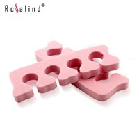 Wholesale 20Pcs Pairs Rosalind Nail Art Tools Toe Separator Finger Points Hand and Foot Braces Support