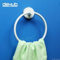 bathroom towel rod - Korea DeHUB Super Sucker Towel Hanging Rod Rough Ring Avoid Holing Bathroom Towel Hanger Delicate Contracted