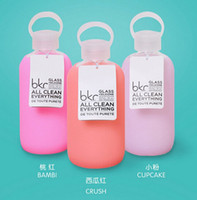 acid drinking water - Bkr Glass Water Bottle Design Silicone Cover carry a water bottle ML