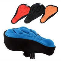 Wholesale Bicycle Parts D Sponge Lycra Nylon Bike Bicycle Cycling Cycle Seat Saddle Cover Ventilate Soft Cushion Colors