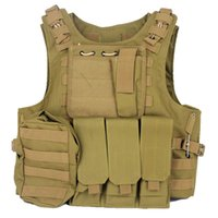 Wholesale Military Camouflage Tactical Molle Vest Chest Rig W Triple mm Rifle Mag Pouch Sundries Bags