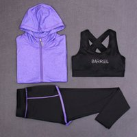 auto bras - Women Yoga set Running Pant Bra Sport clothes Long Sleeve Hooded Sweatshirt Autumn Winter tracksuits GYM workout Fitness Clothes