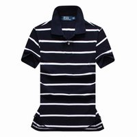 Wholesale new high quality cotton Fashion Men s stripes tops polos the most popular clothes men Short sleeve polos size S XXL