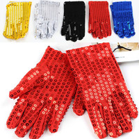 Wholesale Sequined Gloves Adult and Children Dance Performances Gloves Unisex Girls Boys Women Men Michael Jackson Glove Christmas Xmas Gift WX G04