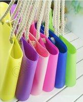 bench bag - Large Silicone Jelly Bag Rope Handle Handbag Candy Color Shoulder Bag Shopping Bench Bag Lady Storage BagLJJQ25