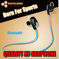 Wholesale H7 For iPhone samsung s7 edge Wireless Bluetooth V4 Sport earphone And Noise Reduction Stereo Headset headphone Best CSR high quality