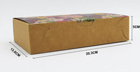 big cardboard boxes - 20pcs pack cmx13 cmx5cm big flowers PACK Cake Box Food Paper Packing kraft cardboard boxes paper box