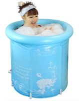 Wholesale Size cm With Pump Water Thickening Folding Tub Adult Bathtub Inflatable Bath bucket