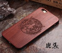 Wholesale luxury wooden back cover for iphone5 real natural wood hard case iphone6s splus solid rosewood shell for iphone6 iphone4s c
