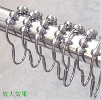 Wholesale Hot Selling Arrive Polished Satin Nickel Roller Ball Shower Curtain Rings Curtain Hooks