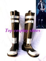 allen walker boots - Freeshipping custom made anime D Gray man Allen Walker PU Leather Cosplay Boots shoes for Halloween Christmas festival