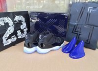 advance silk - Hot With Box Air Retro XI Space Jam Black Blue Heel Advanced Real Carbon Fiber TOP Quality Version Size