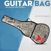 bass gig bag - Waterproof Thicken Leather Newspaper Guitar Bag Case Backpack Guitarra Bass Accessories Parts Carry Gig Oxford Cloth