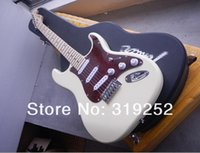 american basswood - High Quality string Stratocaste American SSS Cream yellow electric guitar with Case