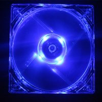 Wholesale NEW CM mm Blue Light LED Silent PC Computer Case Cooler Cooling Fan Mod HOT sell