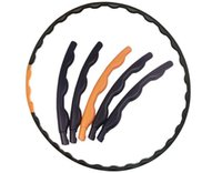 Wholesale Children removable massage hula hoop section removable hula hoops one yellow and nine black