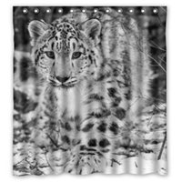bathroom showers pictures - Custom Creative Home Ideas Snow Leopard Theme Picture Bathroom Waterproof Polyester Fabric x180cm Shower Curtain