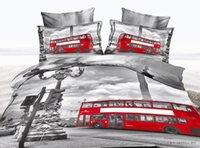 bearing washing machine - 3D Oil painting city landscape natural scenery Bear animal duvet cover set quilt cover flat sheet pillowcases bedding set