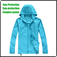 Wholesale Outdoor Spring Summer Camping amp Hiking jacket windbreaker windproof climbing shirt quick dry Rain coat for Women amp Men