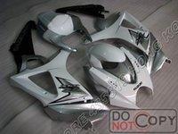 Wholesale Silver White Fairings kit for Suzuki GSXR K7 fairing free windscreen Injection Molding
