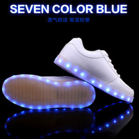 Wholesale USB Charging LED Shoes for Women Kids Men Colors Mode Flashing Sneakers Fashion Casual Flat Led Shoes