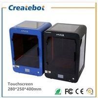 Imprimante 3D Createbot MAX Taille d'impression: 280 * 250 * 400mm Mise à jour de la plate-forme en verre Dual Extrude 3D imprimante KIT écran tactile avec 1 rouleau Filament 3D