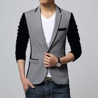 Wholesale 2016 New Korean Fashion Mens Slim fit Blazer coat suit jacket Male casual unique blaser masculino plus size xl xl XL