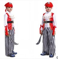 Wholesale Greece Roman Halloween Carnival masquerade Party Kids Children boys Pirate Vampire King Prince General Costume Clothing Clothes Toys Gift