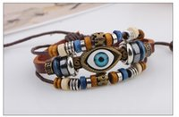 beaded chain mail - Korean fashion men s eye eye Bracelet handmade leather bracelet hand beaded jewelry jewelry bag mail