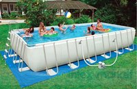 Wholesale 2016US high quality cm gray rectangular tube frame pool suite large swimming pool