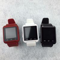 achat en gros de mains libres bluetooth bracelet-3 couleurs Bluetooth Smart Watch U8 U80 MTK Handsfree Reloj intelligente montre-bracelet sport pour Android IOS dispositif portable PK GV18