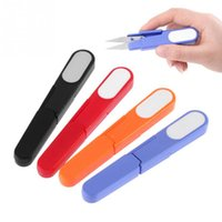 Wholesale Hot Metal Blade Plastic Handle Cross Stitch Fishing Line Scissors Cutter With Cap