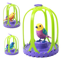 best bird cages - 1pcs Birds Singing Music Kids Toys Digi Birds For Children Exotic Pets Birds With Bird Cage Electronic Baby Kids Best Gifts S30