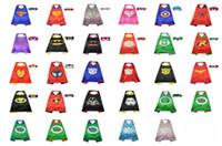 america performance - Children superhero supergirl batman captain america robin transformer cape and mask sets children christmas gifts Free DHL