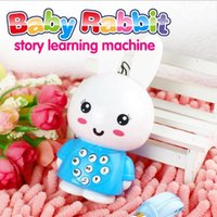 adorable animal designs - 2016 HOT baby rabbit story learning machine with recording and light function adorable cute humanity design