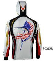 Wholesale Outdoor Sun Protection Clothing Hooded Long Sleeve Fishing Shirt Breathable Quick Drying UV Fishing Clothing Shirts BC008