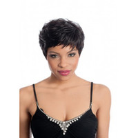 Black fashion hair short wig - Shipping in Hours Classiclal Black Short Straight Woman Hair Fashion Synthetic Wigs Natrural Full Wig For Daily Life