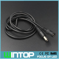 ac extension cable - 1Meter Extension Cable mm Female to Male for Led Strip IP Camera Power Supply AC DC Adapter Extend Wire