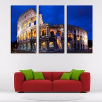 art sites - LK3220 Panels Combination Oil Painting Famous Site Rome Arena Extra Large Wall Art Modern Pictures Print On Canvas Paintings For Home B