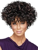africa america - Hot Selling Afro curly hair Cute Kinky Curly Shorts Hairstyle Wigs for America and Africa Women