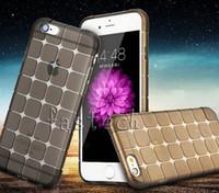 apple lattice - Luxury Magic Cube Square Lattice Transparent Clear Silicone clear TPU Soft Case for Apple iPhone Plus S Plus Cover