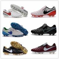 Wholesale New Arrival Soccer Boots Tiempo Legend VI FG Cleats Laser original Men shoes Soccer Shoes Football Shoes