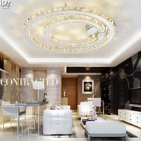 atmospheric led lights - New Atmospheric lighting living room Southeast Asia bedroom lamp creative study led Crystal Light Ceiling Lights D800mm