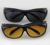 achat en gros de lunettes de soleil hd wrap-Lunettes de soleil de vision nocturne HD Wraparounds Wrap Around Glasses Le Visière de nuit de jour pour votre voiture 1 pièce / boîte de détail