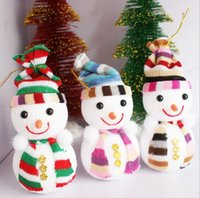 amazing christmas ornaments - New Arrivel Christmas Small Snowman Cute Ornaments Festival Party Xmas Tree Hanging Decoration Colorful Gift Amazing Marry Christmas Toys