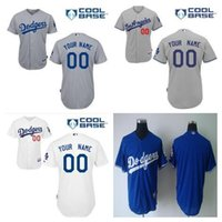 badminton field - baseball Dodgers Custom jerseys home white Personalized stitched Los Angeles Dodgers embroidered road On field alternate jersey