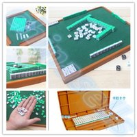 Wholesale new small travel mahjong set mini Mahjong portable mahjiang tiles with table pieces traditional chinese family Board Game hot